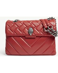 f5574a10151 Kurt Geiger - Ladies Red Kensington Quilted Leather Cross-body Bag - Lyst