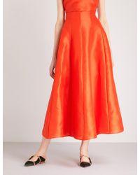 Merchant Archive - A-line Silk Midi Skirt - Lyst