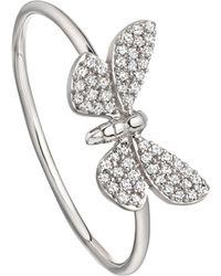 Astley Clarke - Cinnabar Papillon 14ct White-gold And Diamond Ring - Lyst
