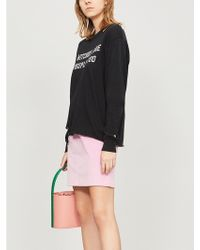 Wildfox - Witches Distressed Cotton-jersey Sweatshirt - Lyst