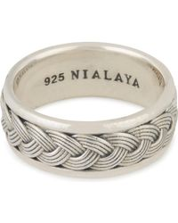 Nialaya | Woven Cable Ring | Lyst