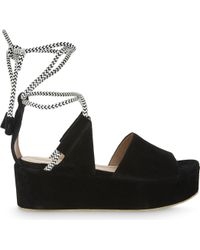 Whistles | Molino Rope Suede Wedge Sandal | Lyst