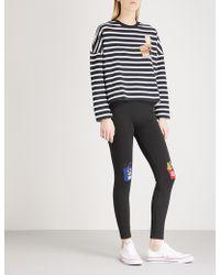 Mini Cream | Striped Print Cotton-blend Sweatshirt | Lyst