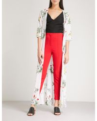 We Are Leone - Provence Floral-embroidered Cotton Maxi Jacket - Lyst