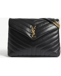 Saint Laurent - Monogram Loulou Medium Leather Shoulder Bag - Lyst