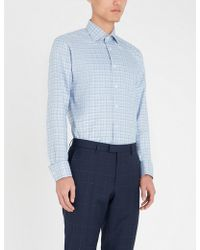 Eton of Sweden - Geometric Slim-fit Cotton Shirt - Lyst