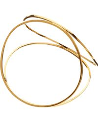 Husam El Odeh - Looped 18ct Gold-plated Pyramid Bangle - Lyst