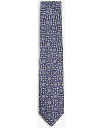 Eton of Sweden - Tile Pattern Silk Tie - Lyst