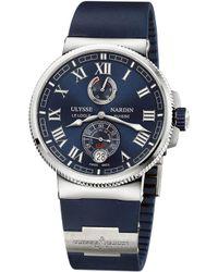 Ulysse Nardin - 1183-122-3/43 Marine Chronometer Stainless Steel Watch - Lyst