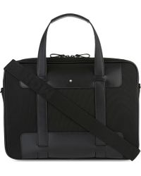 Montblanc - Nightflight Leather Trim Document Bag - Lyst