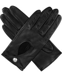 Dents - Leather Keyhole Driving Gloves - Lyst