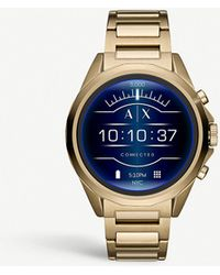 Armani Exchange - Axt2001 Gold-plated Stainless Steel Smartwatch - Lyst