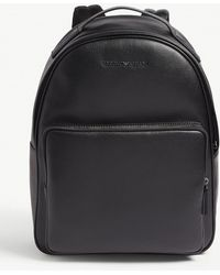 3e7dcce7b89a Lyst - Emporio Armani Metal Logo Backpack In Black in Black for Men