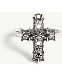 Emanuele Bicocchi - Sterling Silver Cross Ring - Lyst