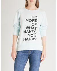 Zadig & Voltaire - Slogan Cotton-blend Sweatshirt - Lyst