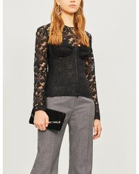 Stella McCartney - Corseted Lace Top - Lyst