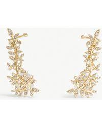 BaubleBar - Armonia Crystal-embellished Cuff Earrings - Lyst