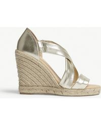 Office - Holiday Leather Espadrille Wedge Sandals - Lyst
