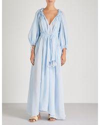 Three Graces London - Honeymoon Linen-gauze Dress - Lyst
