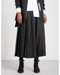 5cm - Wide-leg Cropped Pleated Gabardine Trousers - Lyst