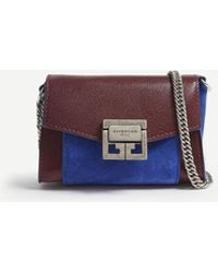 Givenchy - Ladies Aubergine Purple And Blue Gv3 Nano Leather Belt Bag - Lyst