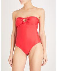 Paper London - Cutout Bandeau Swimsuit - Lyst