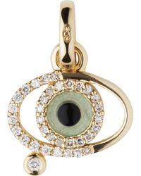 Links of London - Evil Eye 18ct Gold And Diamonds Charm - Lyst