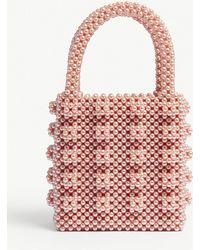 Shrimps - Pink Antonia Beaded Bag - Lyst