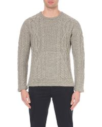 Outerknown - Wilderness Cable Knit Jumper - Lyst