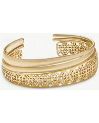 Kendra Scott - Tiana Filigree 14ct Gold-plated Bracelet - Lyst