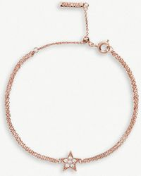 Olivia Burton - Celestial Rose Gold-plated And Crystal-embellished Star Bracelet - Lyst
