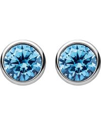 Thomas Sabo - Classic Blue Stone Sterling Silver Ear Studs - Lyst