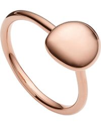 Monica Vinader - Nura 18ct Rose Gold Vermeil Stacking Ring - Lyst