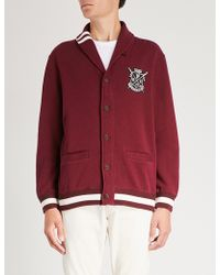 Polo Ralph Lauren - Logo-patch Cotton-blend Cardigan - Lyst