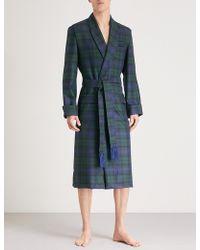 Derek Rose - Tartan Wool Dressing Gown - Lyst