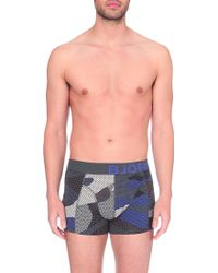 Björn Borg - Three Pack Camo Stretch-cotton Trunks - Lyst
