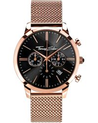 Thomas Sabo - Rebel At Heart Rose Gold-toned Stainless Steel Watch - Lyst