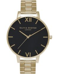 Olivia Burton - Ob15bl24 Big Dial Gold-plated Watch - Lyst