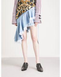 Marques'Almeida - Wrap-panel Distressed Denim Skirt - Lyst