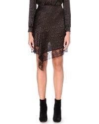 Givenchy - Star Logo-print Silk Skirt - Lyst