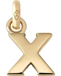 Links of London | Alphabet X 18ct Yellow Gold Charm | Lyst