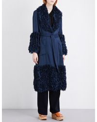 Rosie Assoulin - Ruffled Cotton And Silk-blend Coat - Lyst