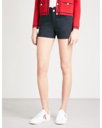 Claudie Pierlot | Ella Scalloped Waistband Shorts | Lyst