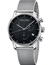 CALVIN KLEIN 205W39NYC - City Stainless Steel Chronograph Watch - Lyst