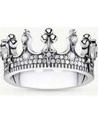 Thomas Sabo - Kingdom Of Dreams Sterling Silver Crown Ring - Lyst