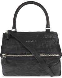 Givenchy - Pandora Small Washed Leather Shoulder Bag - Lyst