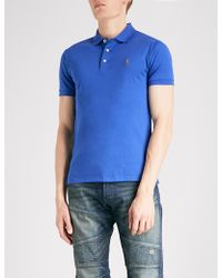 Polo Ralph Lauren - Slim-fit Cotton-jersey Polo Shirt - Lyst