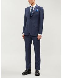 Richard James - Hopsack Regular-fit Wool Suit - Lyst