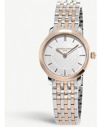 Frederique Constant - Fc-200whs2b-2 Slimline Stainless Steel And Rose Gold-plated Two-tone Watch - Lyst
