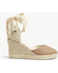 Soludos - Linen Woven Wedge Sandals - Lyst